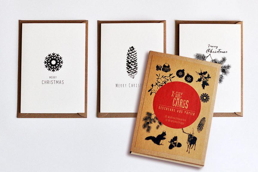 x-day card Weihnachtskarten